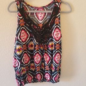 Southwest cotton tank with detail